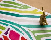 Wrapping Paper: Colourful Animal Prints (Digital pdf)