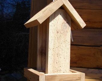 Hanging Cedar Wood Birdfeeder