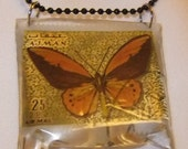 pendant butterfly gold 3