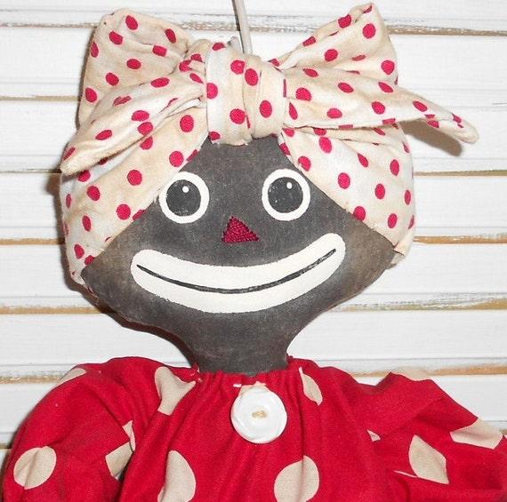 Primitive Mammy Bag Holder Doll by Raggedy Jaynes