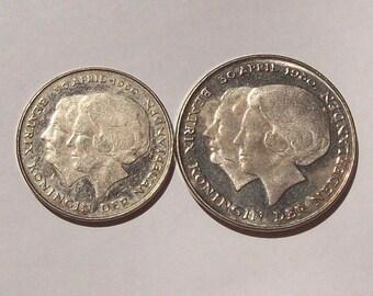 1980 Netherlands Queen Beatrix Coronation Coins