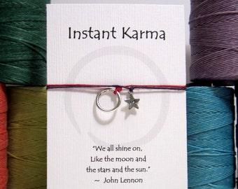 Instant Karma Personalized Star Initial Wish Bracelet