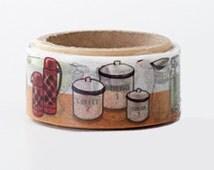Yano Design Die Cut Japanese Washi Masking Tape / Kitchen Stuff for scrapbooking, packaging, invitation, card, tag making
