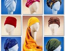 Headwrap Pattern, Easy Hats Pattern, Turban Pattern, in 7 Styles Sz S to L, McCall's Sewing Pattern 4116