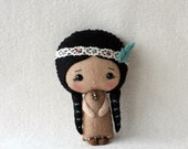Native American Girl pdf Pattern - Instant Download