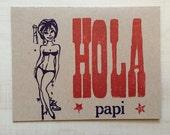 Hola Papi Letterpress Card