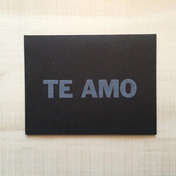 Te amo / Love you Greeting Card, Spanish Card, Blank Note Card, Spanish Language, Funny Birthday Card, Pun Card