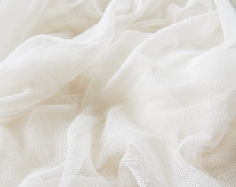 Pure Silk Luxury Softest Tulle Bridal Veil Material only 1 yard x 70 inches