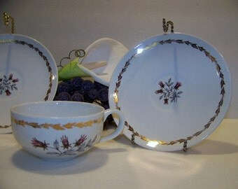 Vintage Royal Warranted 22 kt Gold Fine China Tea Cup and Saucer Whisper