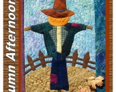 Autumn Afternoons Scarecrow quilt block pattern and kit.