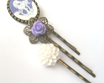 Purple Unicorn Bobby Pin Set, Purple Bobby Pins, White Bobby Pins, Unicorn Accessories