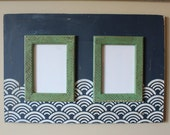 Navy and Kelly Green Double 5x7 Frame