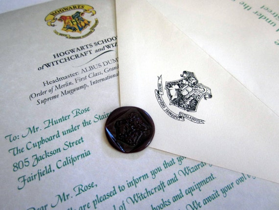 Hogwarts Acceptance Letter Personalized (Book Version) for the witch ...