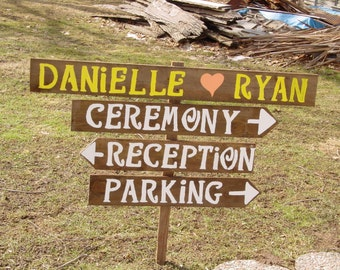 Rustic Wedding Signs / wood signs / beach signs / custom signs / personalized signs / wedding decorations / reception sign / ceremony sign