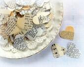 Vintage Heart Wedding Confetti / 500 Pieces / Wedding Decor / Table Confetti / Wedding Confetti
