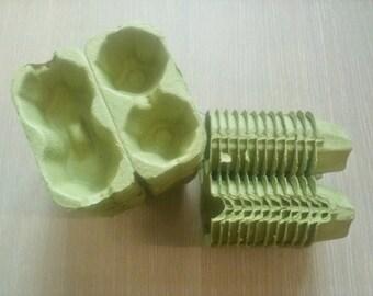 20 Egg Cartons in Green -2 Holding Type Egg Carton
