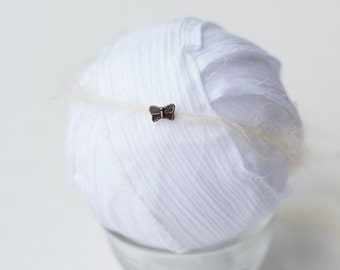 newborn baby girl butterfly mohair tie back halo photography prop RTS