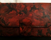 Vintage 1940's WWII sSCo Copper Beech Clutch Bag Purse