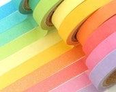 10pc MINI set Candy Colours Washi Paper Tape japanese masking tape