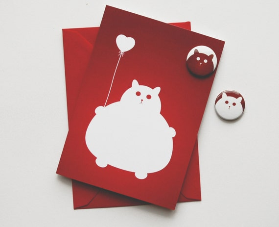 Mother's Day Card - Cat Mother's Day - Romantic Kitty Card - Pet Lovers Card