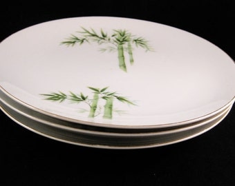 Orient China Bamboo Dinner Plates (3) Made In Japan