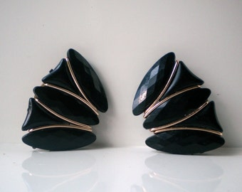 Vintage Black Formal Earrings