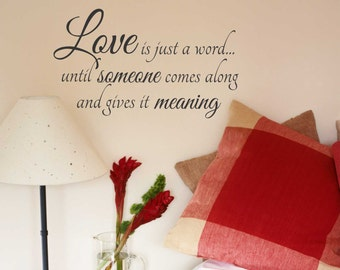Love is a Word Quote, Vinyl Wall Lettering, Vinyl Decals, Wall Words, Vinyl Letters, Wall Quotes, Love Decal, Wedding Gift