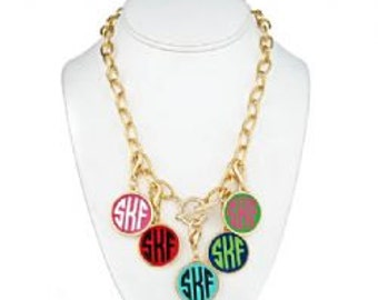 Monogrammed Disc Necklace
