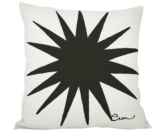 Starburst 20in Pillow in Black