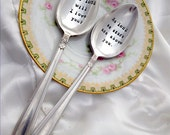 Hand Stamped Spoons Vintage Silverplate Spoons - Made to Order - Blithe Vintage Etsy