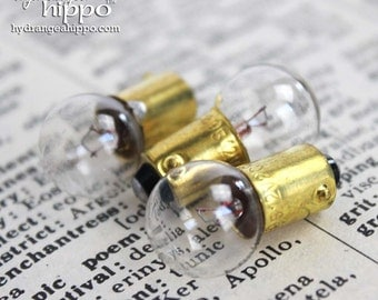 Set of 20 Mini Lightbulbs with Round Glass Bulb - VINTAGE