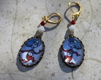 Thing 1 and Thing 2 Earrings