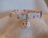 Cat Collar with pig  bell Breakaway Collar Custom Made
