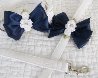 Dog Wedding Collar and  Leash Set