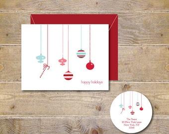Christmas Cards, Christmas Ornaments, Holiday Cards, Christmas, Christmas Candy, Christmas Card Set, Handmade Christmas Cards