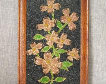 Still Life , Floral Art , Flower Art , Pebble Art , Floral Bouquet , Handmade , Wall Decor , Floral Branch , Botanical , Vintage Art , Art