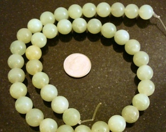 40 SOO CHOW Jade Beads (serpentine) 10mm round shaped beads 16 inch BS048