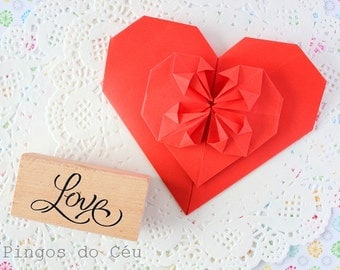 Love Stamp - Wooden rubber -