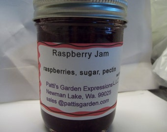 Handmade Organic Preserves,Farm Grown, Handmade-  Organic Raspberry Jam - all natural - all good