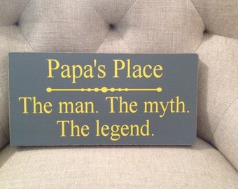The Man The Myth The Legend ~ Father's Day Gift ~ Papa Gifts ~ Grandparent Gifts ~ Man Myth Legend ~ Papa ~ Grandpa Gift ~ Gifts For Grandpa