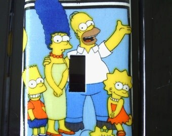 The Simpsons Single Toggle Light Switch Plate Cover