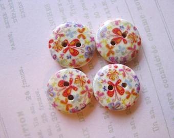 CuteButterfly Wooden Buttons