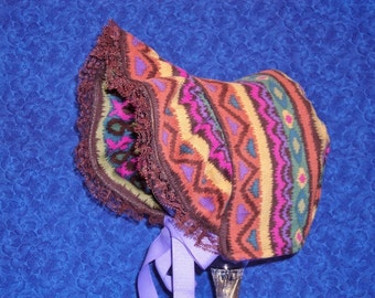 Warm Winter Baby Bonnet Corduroy Colorful