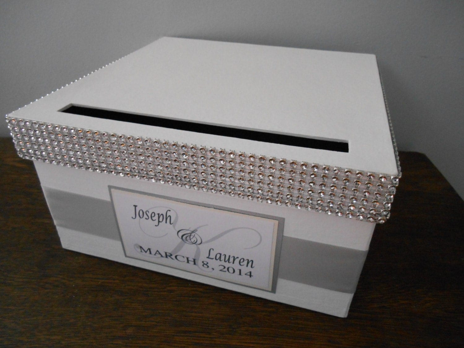 Alternative Silver Wedding Gifts : Glam Wedding Card Box Hollywood Glam Wedding Gift Card Box