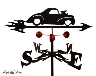 Hand Made Farrell Willie Willys Auto Car Weathervane NEW
