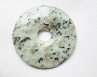 Kiwi Jasper Donut Pendant Focal 55mm 1pc