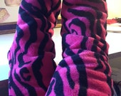 Fully Lined Print or Solid Minky Fleece Slipper Socks