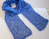 Berry Blue Crocheted Scarf