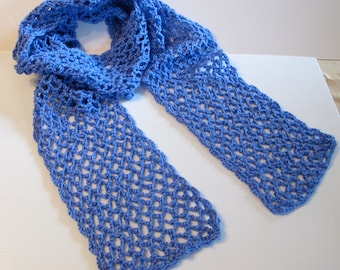 Scarf: Berry Blue Crocheted Scarf