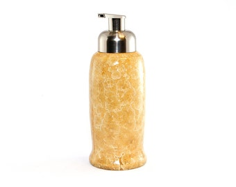 "Crystalline Glaze:  ""Light Honey Butter""  Foaming Soap dispenser"